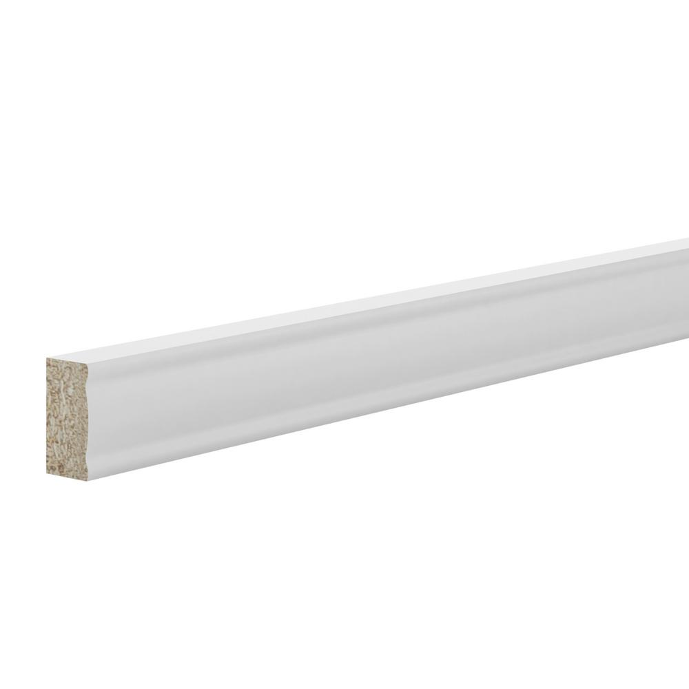 1.5 in. x 91.5 in. Deco Edge Molding in Warm White