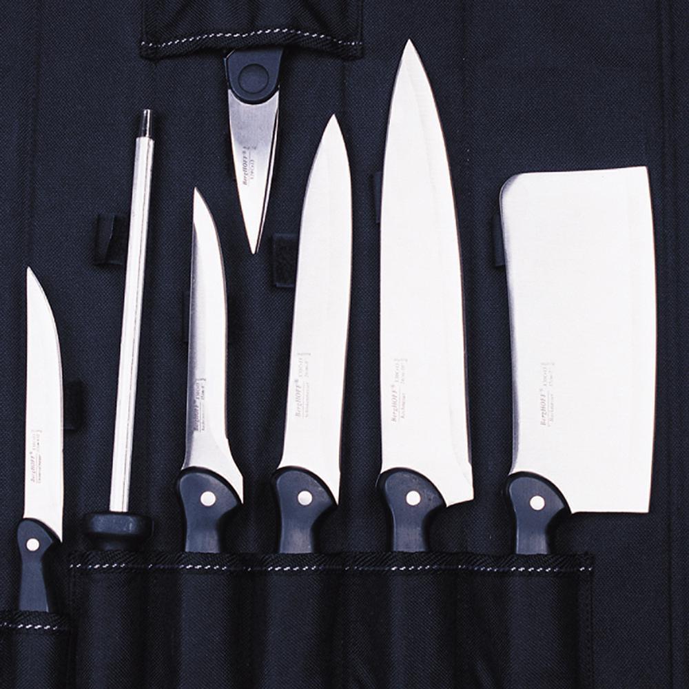 BergHOFF Studio 9-Piece Knife Set with Folding Wrap 1309057