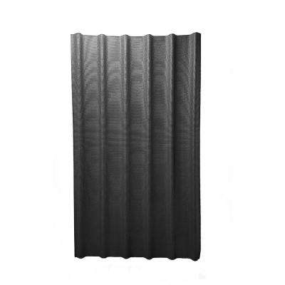 6V 3.33 ft. x 6-1/2 ft. Asphalt Roof Panel in Black