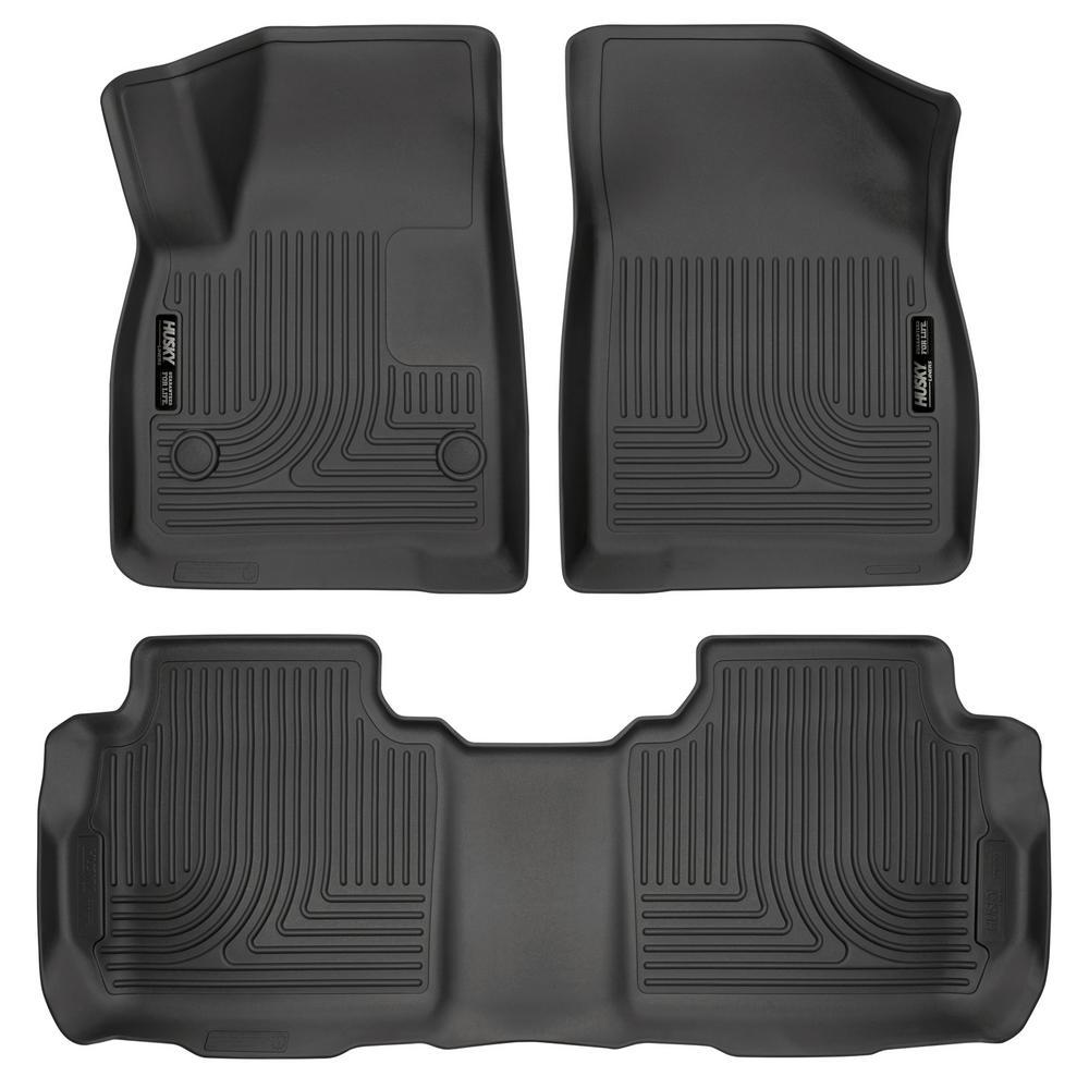 Set of 2 Lund 383053-B Catch-It Vinyl Black Rear Seat Floor Mat