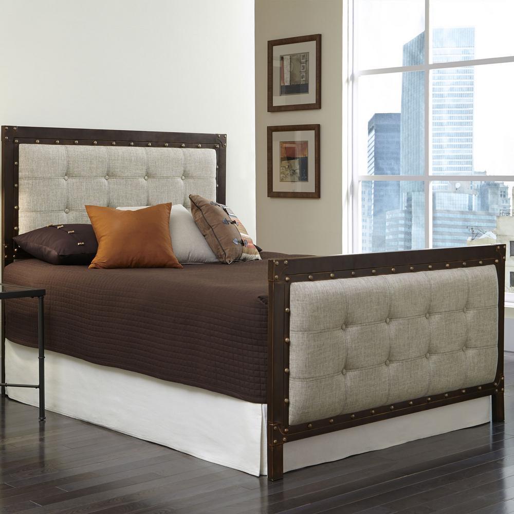 Leggett and Platt Gotham Brushed Copper QueenSize Complete Bed