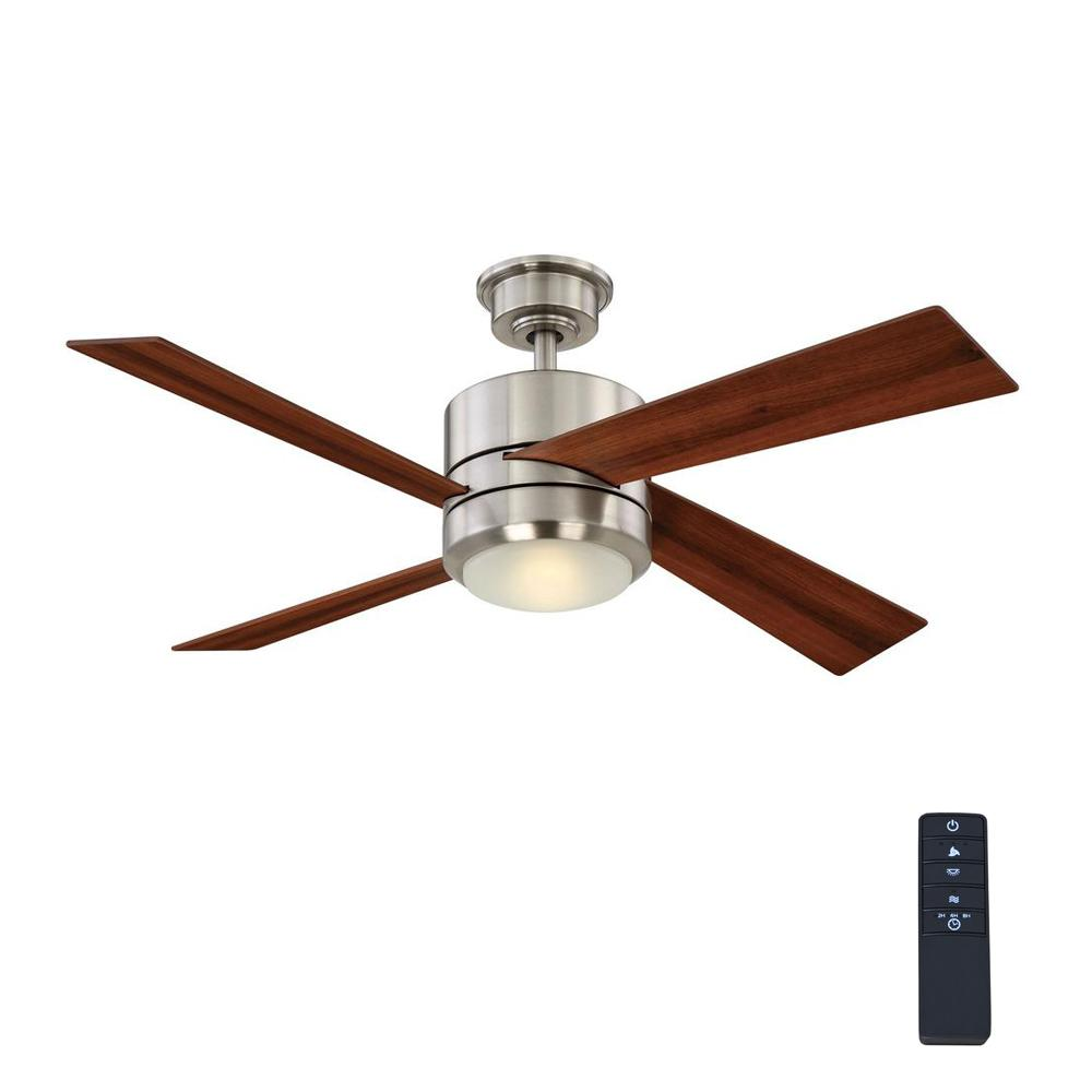 Home Decorators Collection Healy 48 In Led Indoor Brushed Nickel Ceiling Fan Yg337 Bn The