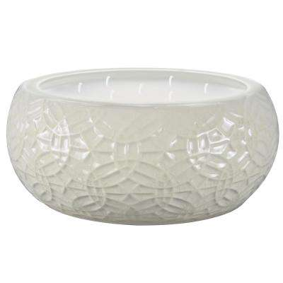 8 in. White Ceramic Citronella Candle