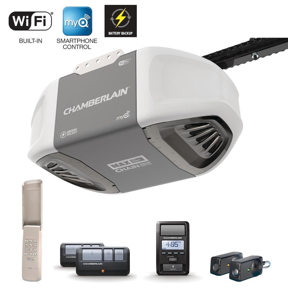 garage door batteryChamberlain 114 HPS Smartphone Controlled Durable Chain Drive