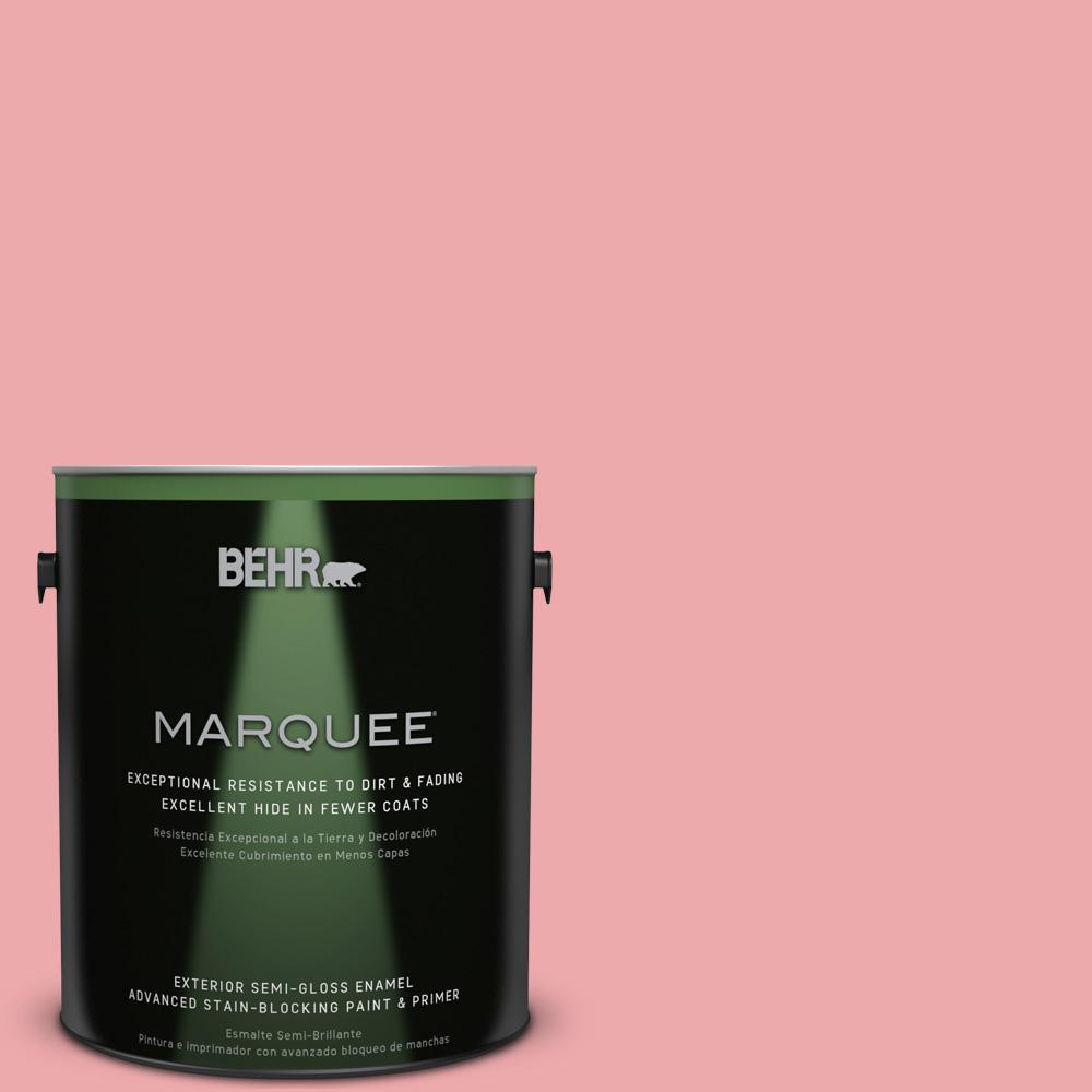 BEHR MARQUEE 1-gal. #140C-3 Hibiscus Petal Semi-Gloss Enamel Exterior Paint