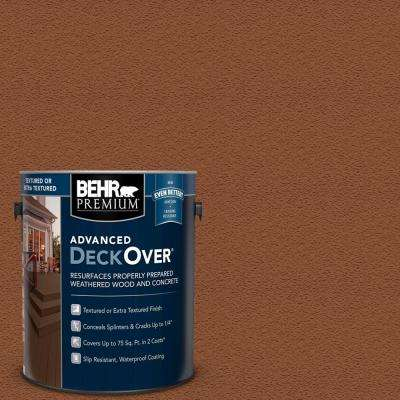 1 gal. #SC-122 Redwood Naturaltone Textured Solid Color Exterior Wood and Concrete Coating