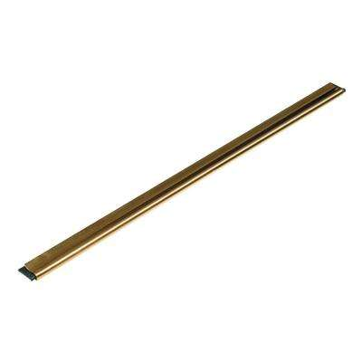 12 in. Golden Clip Brass Channel with Straight Black Rubber Blade and Clip