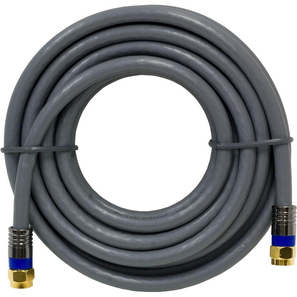 GE 12 ft. RG-6 Coaxial Cable - Gray