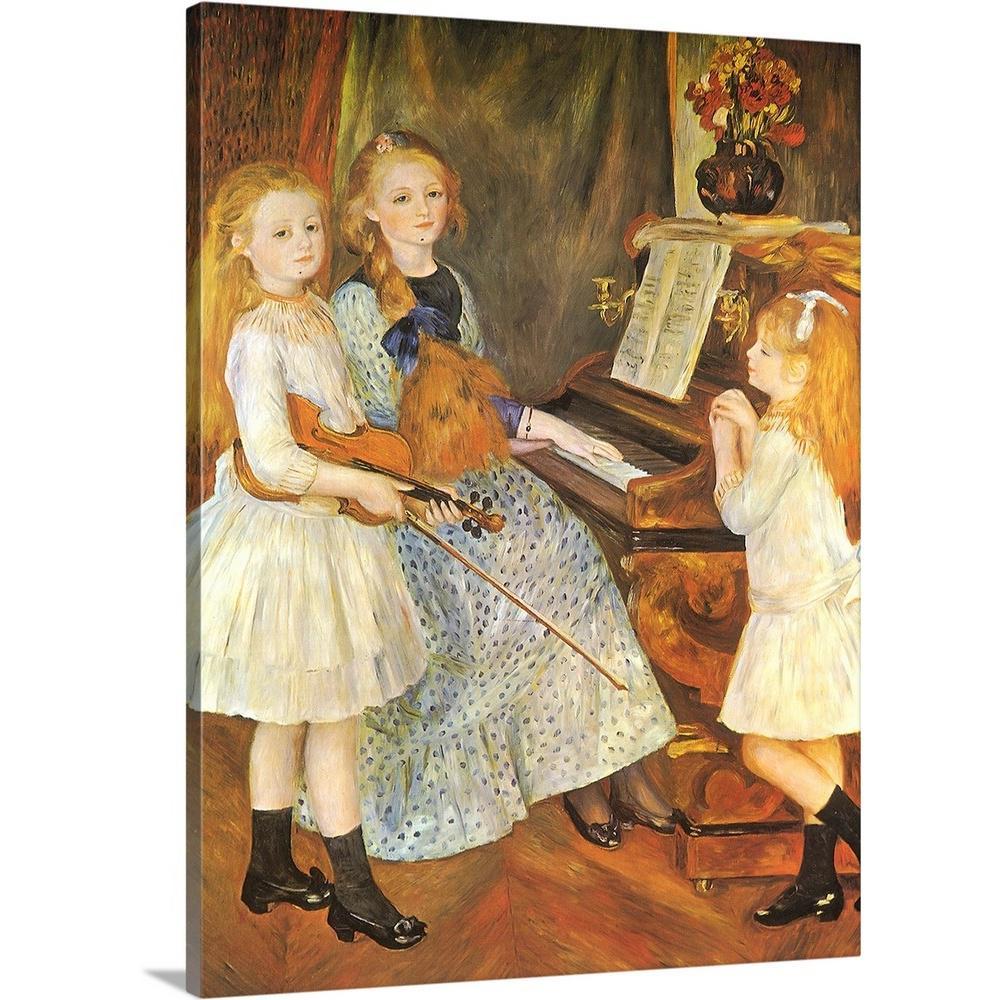 Renoir In The Woods Painting Landscape Large Canvas Art Print