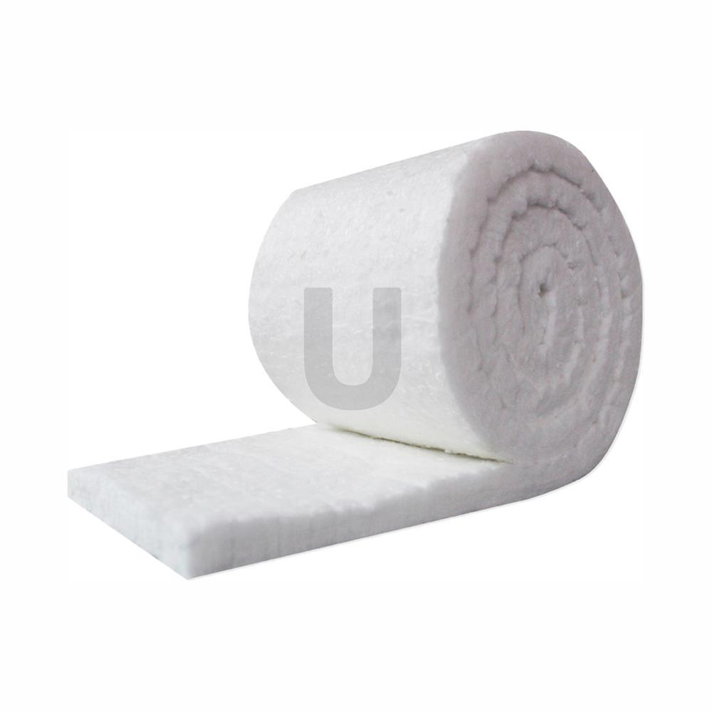 Ceramic Fiber Insulation Blanket Roll, (8# Density, 2300°F) (1in.x24in.x25ft.)for Kilns, Ovens, Furnaces, Forges, Stoves