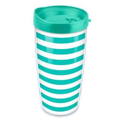 Stripes 16 oz. Tumbler in Teal
