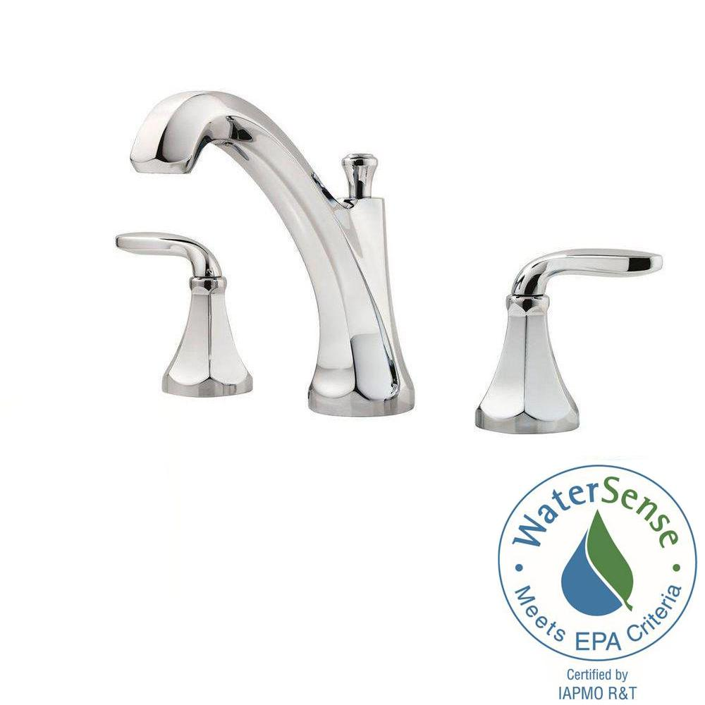 Pfister Designer 8 In. Widespread 2 Handle Bathroom Faucet In Polished  Chrome