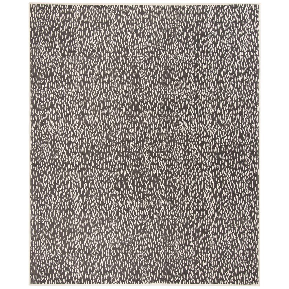 Marbella Dark Gray/Ivory 8 ft. x 10 ft. Area Rug