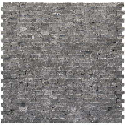 Modern Madrid 12 in. x 12 in. x 9.5 mm Marble Natural Stone Mesh-Mounted Mosaic Wall Tile (10 sq. ft. / case)