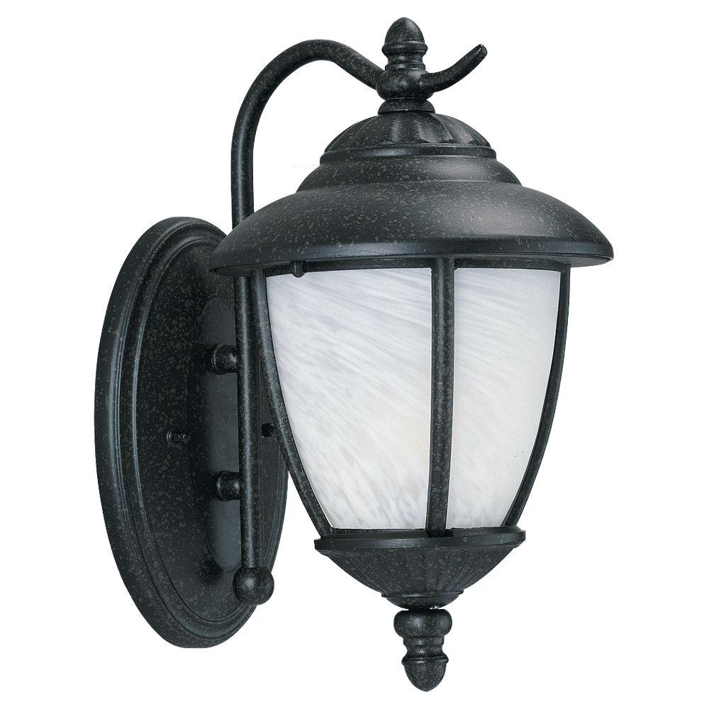 Sea Gull Lighting Yorktown 1 Light Forged Iron Outdoor