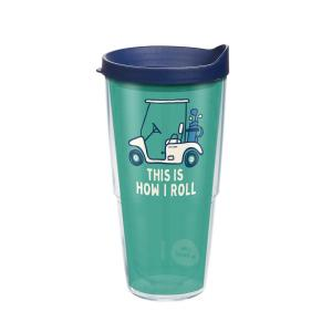 Tervis Life Is Good Golf Cart 24 oz. Clear Tumbler with Lid by Tervis