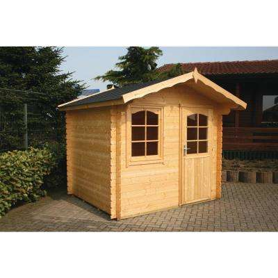 Trondheim 7 ft. 1/4 in. x 9 ft. 1/2 in. x 8 ft. Log Garden House Hobby Workshop Office Storage Building