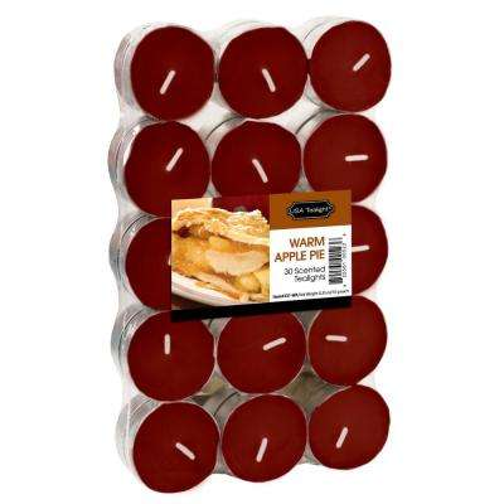 Warm Apple Pie Tealight Candles (Set of 60)