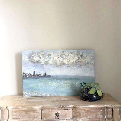 "34 in. x 22 in. x 2 in. ""Sojourn"" by Unnamed Artist Hand Painted Canvas Wall Art"
