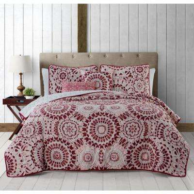 Juno 5-Piece Spice Queen Quilt Set