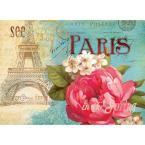 Spring in Paris 18 in. W x 13 in. L Polypropylene 4-pack Placemat Set