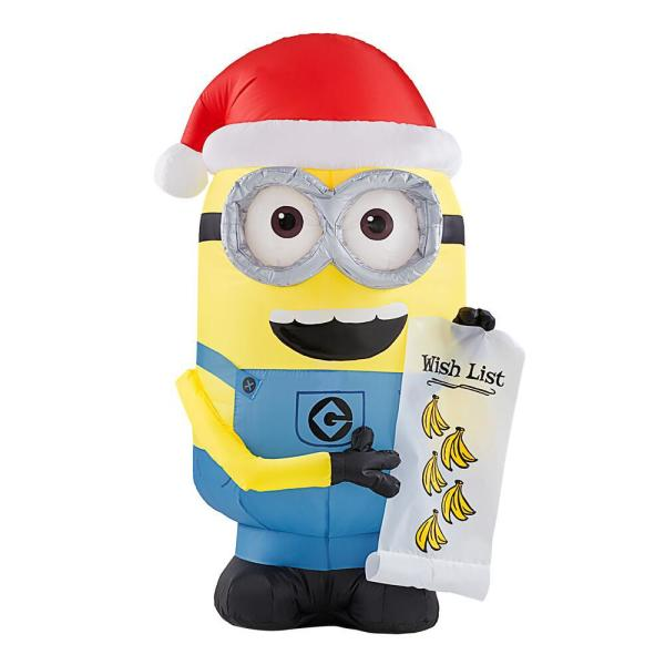 3.5 ft. Inflatable Minion Dave with Banana Wish List