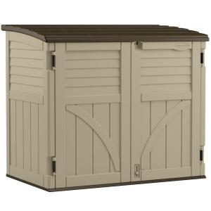 Suncast 2 ft. 8 inch x 4 ft. 5 inch x 3 ft. 9.5 inch Resin Horizontal Storage Shed by Suncast