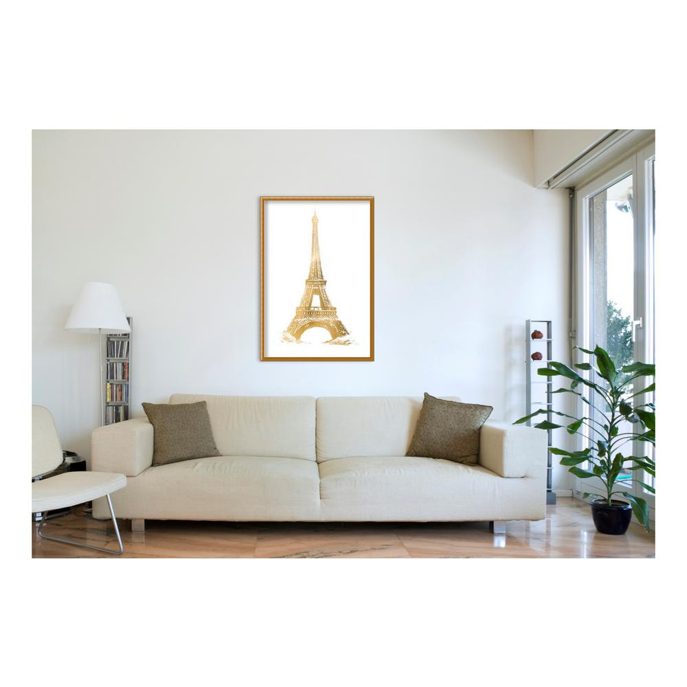 Amanti Art 32 in. W x 45 in. H \'Gold Foil Eiffel Tower Metallic ...