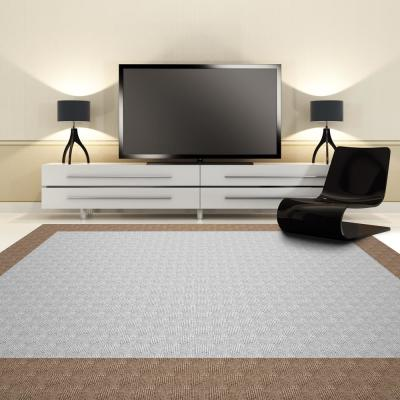Peel and Stick Sophisticated Dove Pattern 18 in. x 18 in. Residential Carpet Tile (16 Tiles/Case)