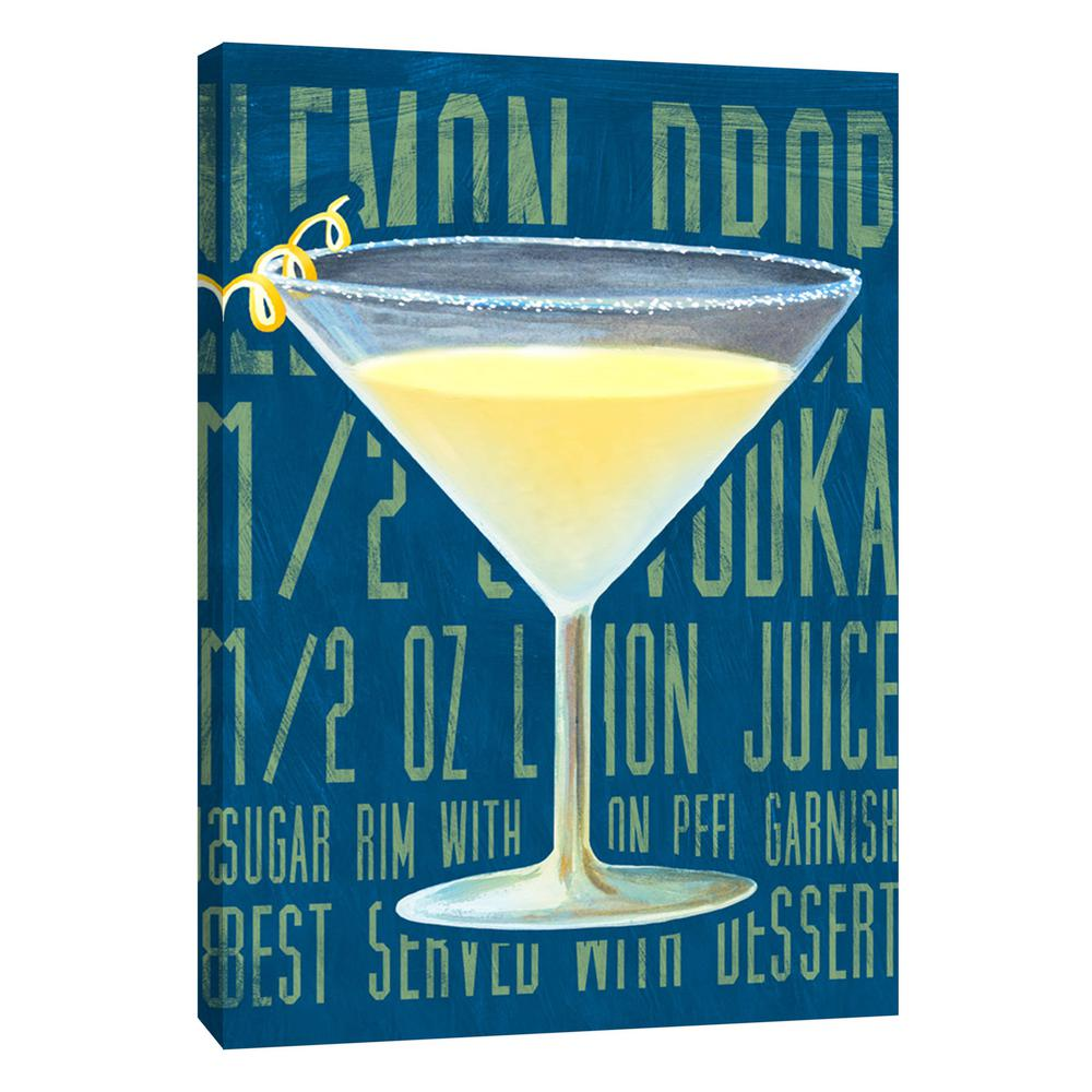 Ptm Images 12 In X 10 Lemon Drop Vertical Printed Canvas Wall Art