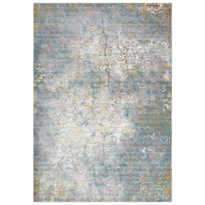 Morocco Blue Cream 5 Ft X 7 Ft Persian Area Rug Mcomr100509330507 The Home Depot