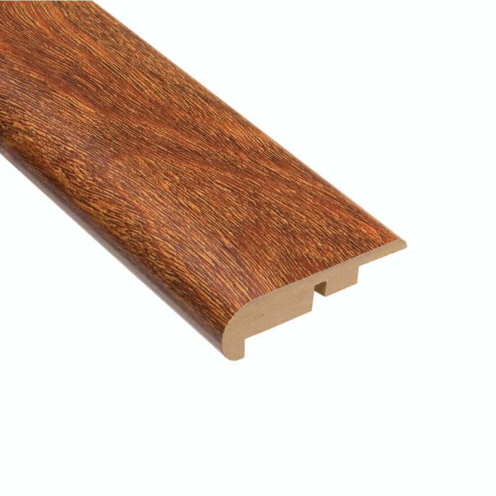 Home Legend High Gloss Natural Mahogany 7/16 in. Thick x 2-1/4 in. Wide x 94 in. Length Laminate Stair Nose Molding, Medium