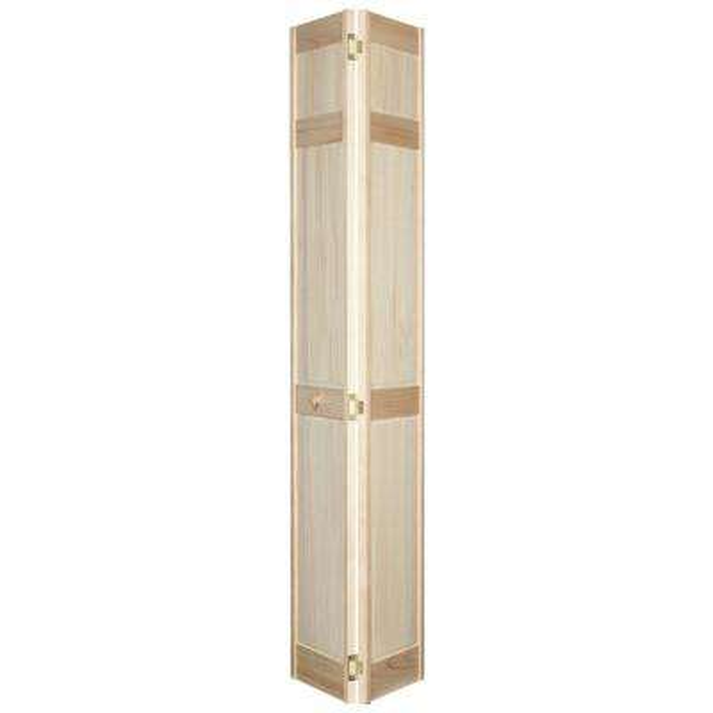 6-Panel Stain Ready Solid Wood Interior Closet Bi-fold Door
