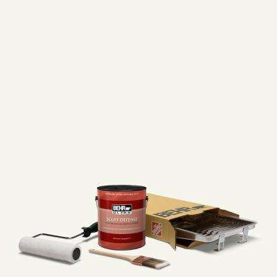 1 gal. #75 Polar Bear Ultra Extra Durable Flat Interior Paint and 5-Piece Wooster Set All-in-One Project Kit