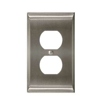 Candler 1-Duplex Outlet Wall Plate, Satin Nickel
