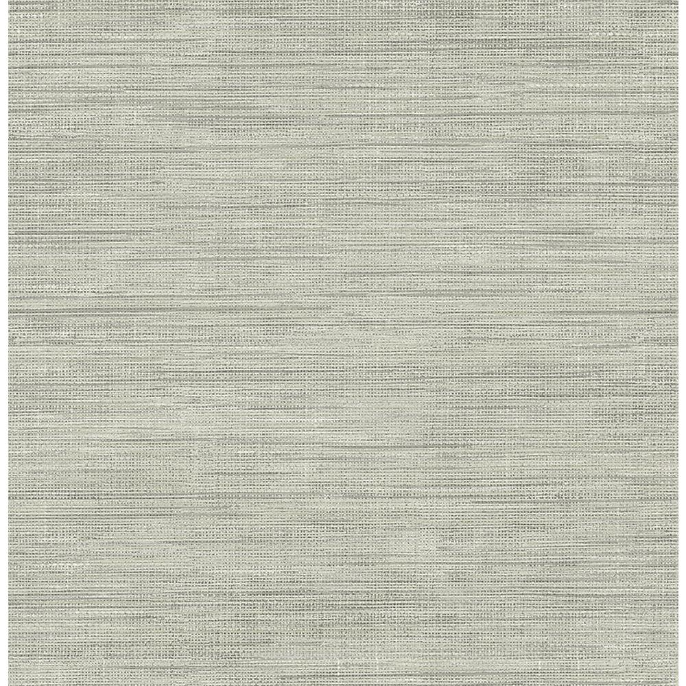 Silver Grasscloth Wallpaper: Brewster Island Grey Faux Grasscloth Wallpaper-FD23285