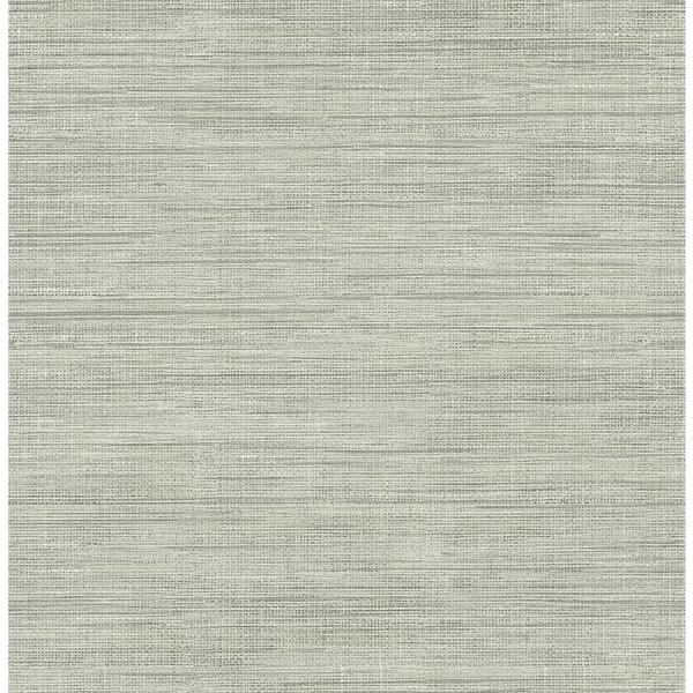 Brewster Island Grey Faux Grasscloth Wallpaper Sample FD23285SAM