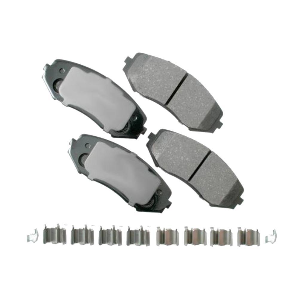 Rr Ceramic Brake Pads  Akebono  ACT1041