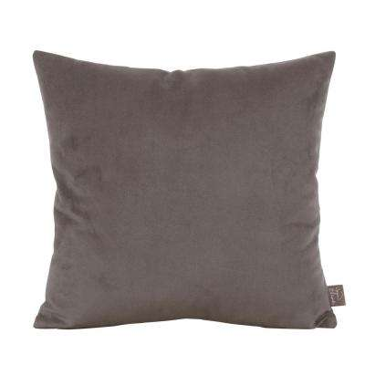 Bella Gray Pewter 16 in. x 16 in. Decorative Pillow