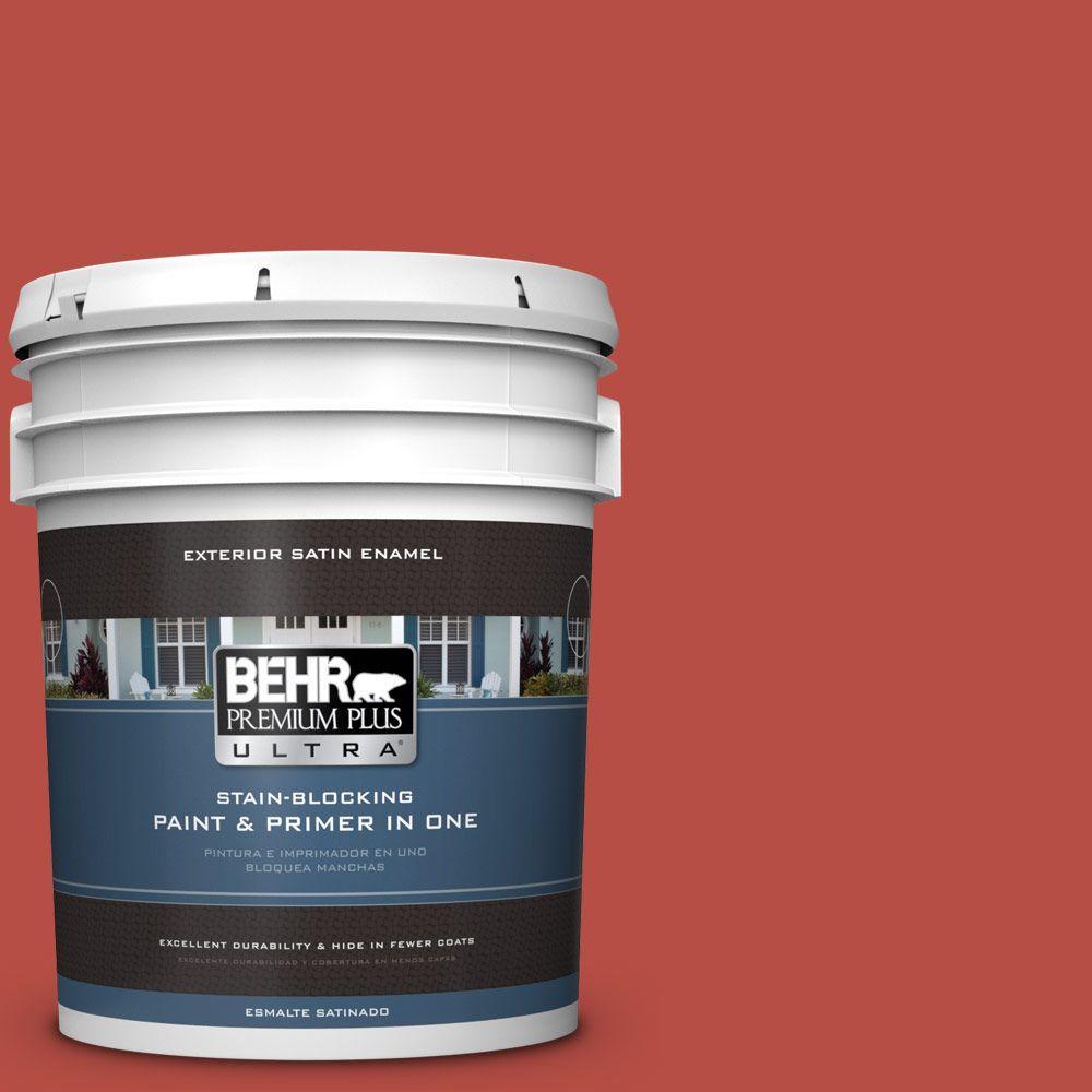 BEHR Premium Plus Ultra 5-gal. #M160-7 Raging Bull Satin Enamel Exterior Paint