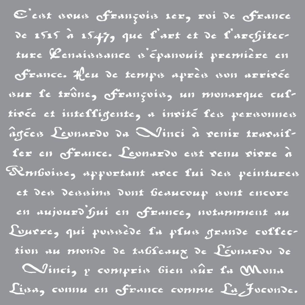 Decoart Americana Decor Old French Script Stencil Ads10 K