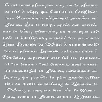 Americana Decor Old French Script Stencil