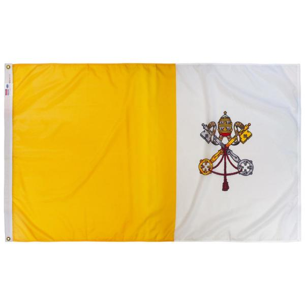 3 ft. x 5 ft. Nylon Papal/Vatican Outdoor Religious Flag