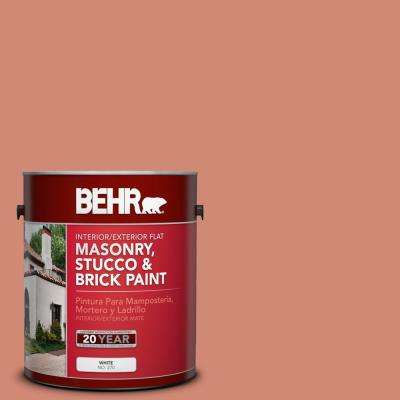1 gal. #M190-5 Fireplace Glow Flat Interior/Exterior Masonry, Stucco and Brick Paint