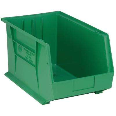 Ultra Series Stack and Hang 8.9 Gal. Storage Bin in Green (4-Pack)