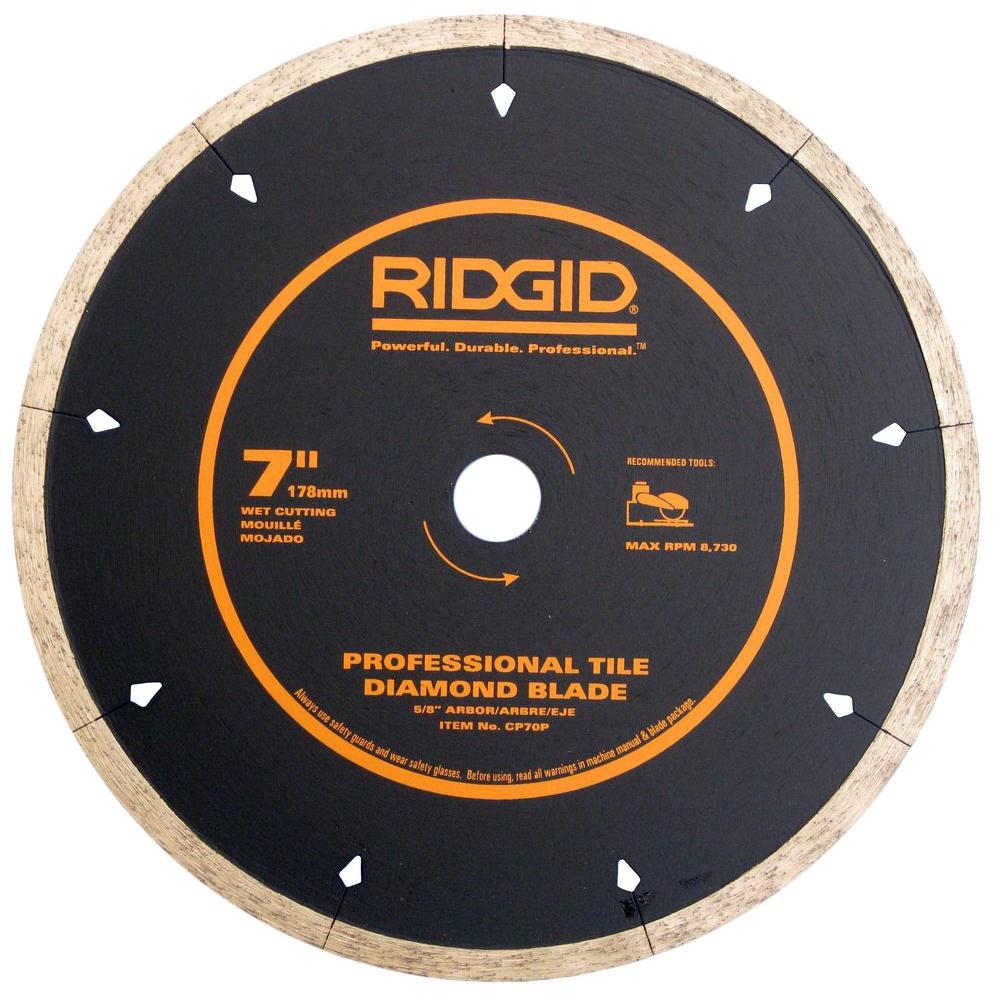 RIDGID 7 in. Diamond-Edge Tile Circular Saw Blade