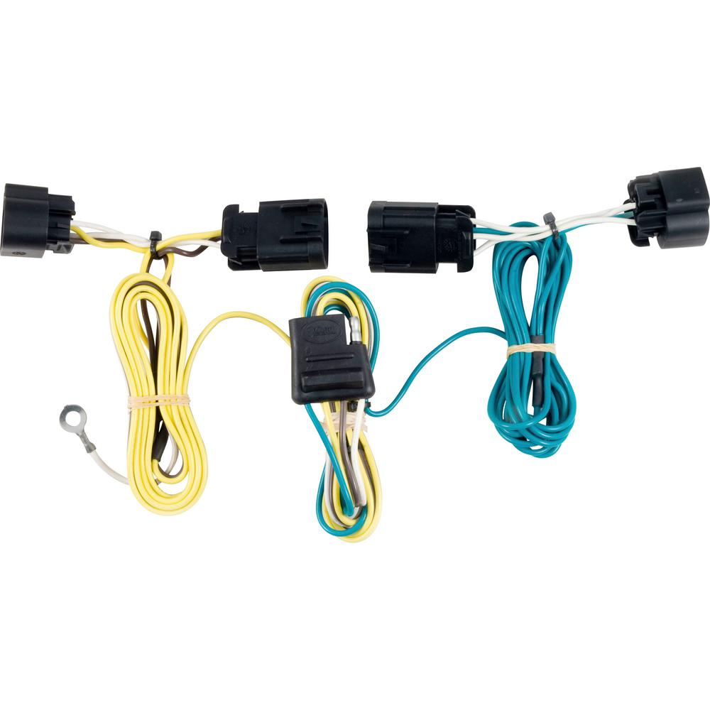 CURT Custom Vehicle-Trailer Wiring Harness, 4-Way Flat Output, Select  Chevrolet Camaro, Quick Electrical Wire T-Connector-56089 - The Home DepotThe Home Depot