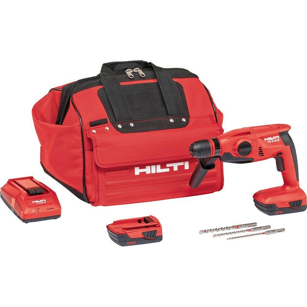 Hilti TE 2-A 18-Volt Lithium-Ion SDS-Plus Cordless Compact Rotary Hammer Drill
