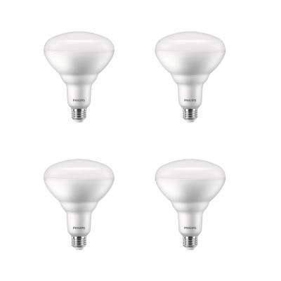 150-Watt Equivalent BR40 Dimmable with Warm Glow Dimming Effect Energy Saving LED Light Bulb Soft White (2700K) (4-Pack)