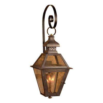 Natural gas outdoor lighting lighting the home depot bayou 30 in outdoor washed pewter gas shepherds scroll aloadofball Gallery